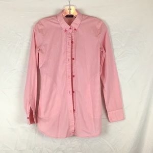 New York & CO. pink/white button down Shirt🛍